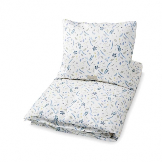 Parure de lit - Feuilles Bleu