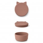 Boîte en silicone Cornelius - Chat rose