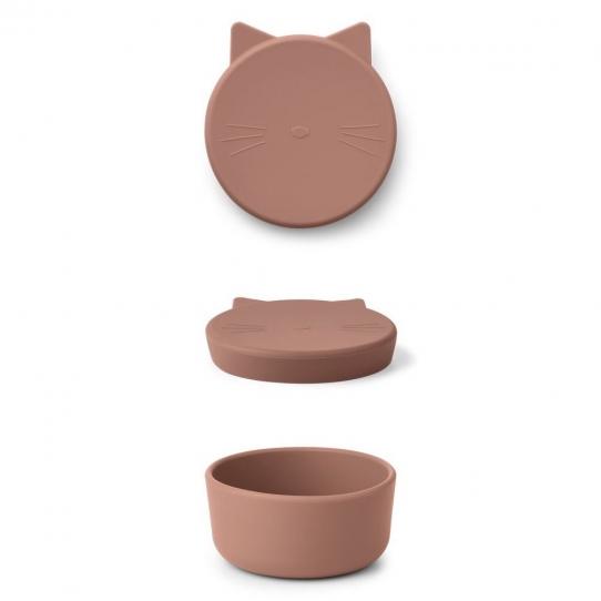 Boîte en silicone Cornelius 11,5 cm - Chat rose