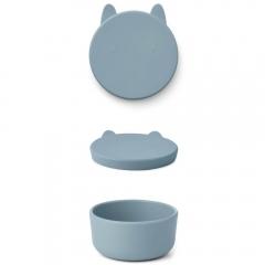 Boîte Charlot 16 cm - Rabbit sea blue