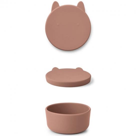 Boîte en silicone Charlot - Lapin rose