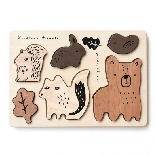 Puzzle en bois - Animaux de la Forêt