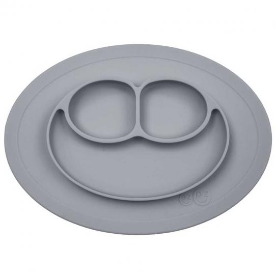 Mini assiette compartimentée antidérapante - Gris foncé