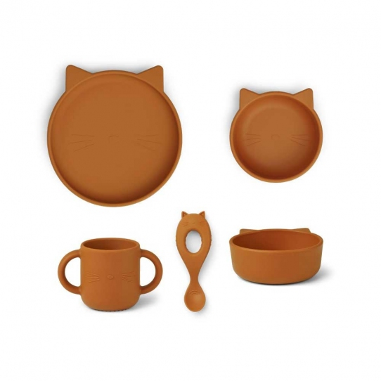 Vaisselle Silicone - Chat moutarde
