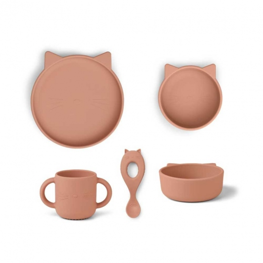 Vaisselle Silicone - Chat rose