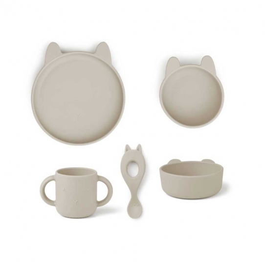 Vaisselle Silicone - Lapin beige