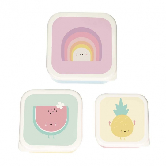 Aloha Lunchbox Set de 3 boîtes - Rainbow