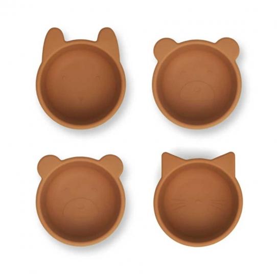 Set de 4 bols en silicone Malene - Moutarde