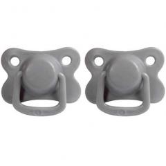 2 Tétines silicone 6M+ - Dark Grey