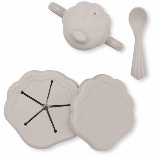 Set de vaisselle en silicone - Warm Grey