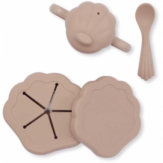 Set de vaisselle en silicone - Blush