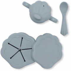Vaisselle en silicone - Coquillage Light Blue