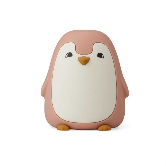 Veilleuse rechargeable - Pingouin rose