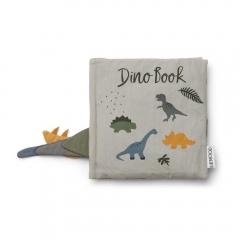Livre en tissu - Dennis Dino Bleu Dove