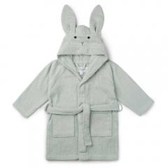Peignoir Lily Rabbit dusty mint - 1/2 ans