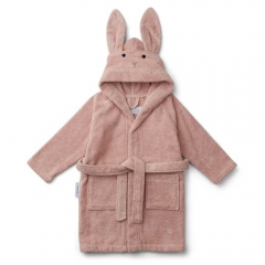 Peignoir Lily Lapin rose - 3/4 ans