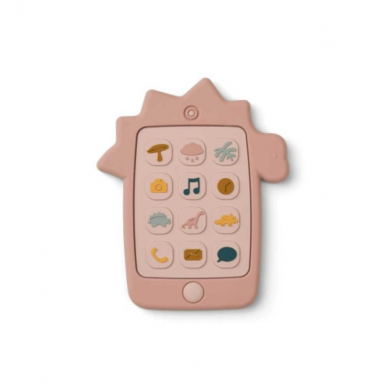 Téléphone en silicone - Dino Rose