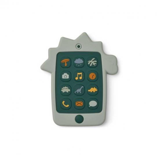 Téléphone en silicone - Dino Bleu dove