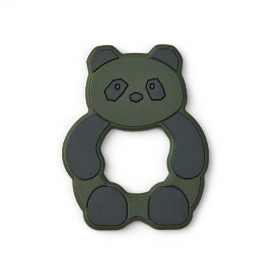 Anneau de dentition silicone - Panda Kaki