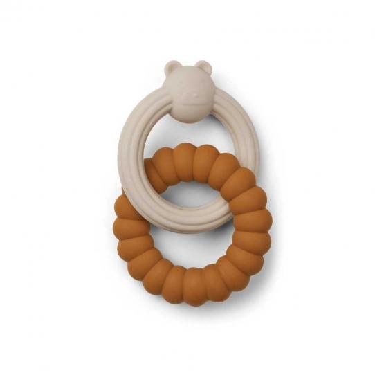 2 Anneaux de dentition silicone - Ours mix beige