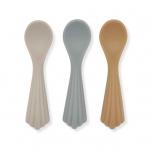 Cuillère en silicone x3 - Coquillage Warm Grey