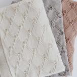 Couverture en tricot - Blanche