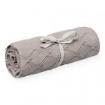 Couverture en tricot - Chocolat