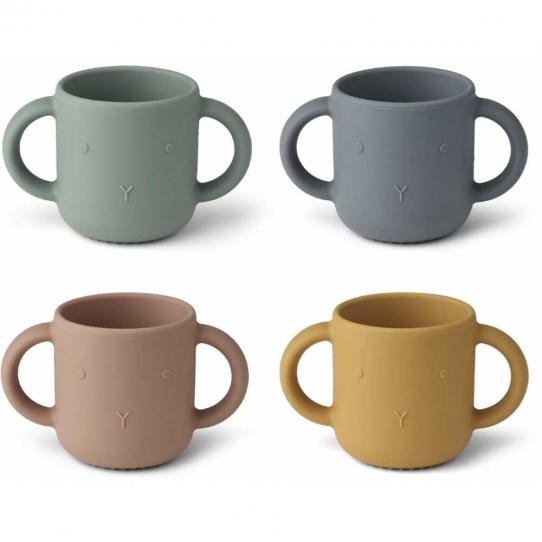 4 Tasses avec anses Gene - Lapin mix