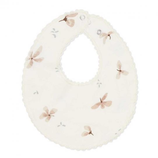 Bavoir bébé en jersey - Windflower crème