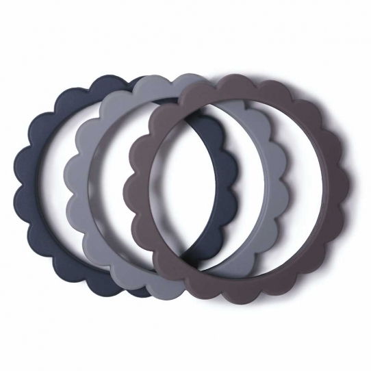 Bracelets de dentition Fleur - Steel, Dove gray, Stone
