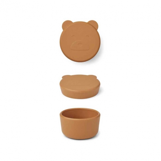 Boîte en silicone Carrie 8,3 cm - Ours moutarde