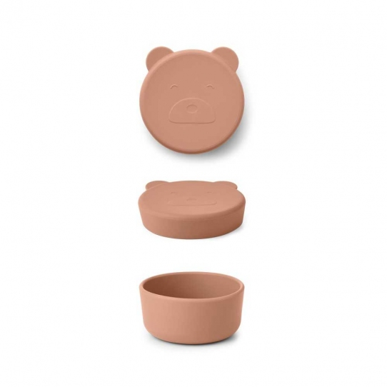 Boîte en silicone Carrie 8,3 cm - Ours rose tuscany