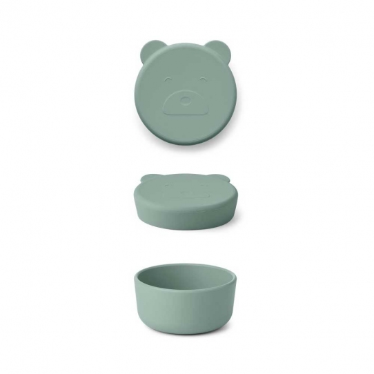 Boîte en silicone Carrie 8,3 cm - Ours peppermint