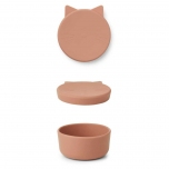 Boîte en silicone Cornelius 11,5 cm - Chat rose tuscany
