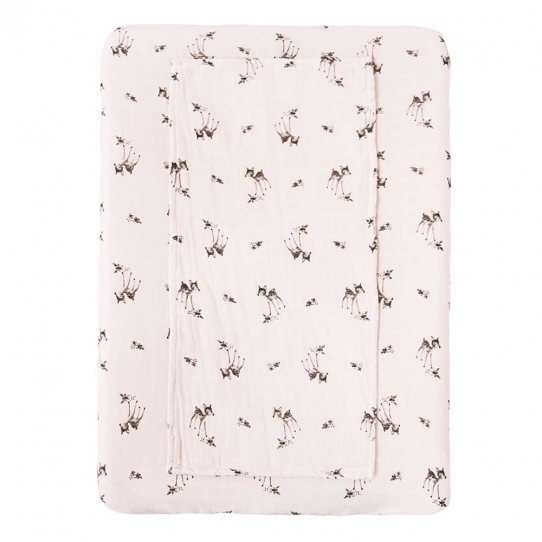 Housse de matelas à langer Fanny - Faon light pink