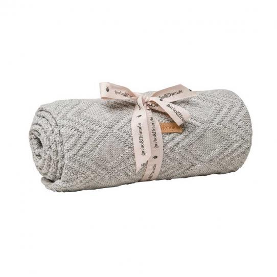 Couverture en coton Ollie - Gray