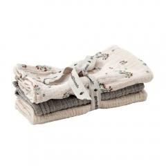 3 petits langes Muslin - Clover