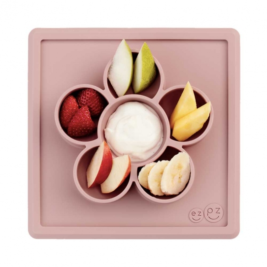 Mini Play Mat compartimenté antidérapant - Rose
