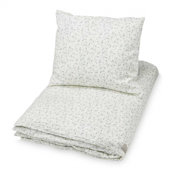 Parure de lit Bébé 70x100 - Feuilles vert