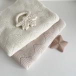 Couverture en tricot - Naturel