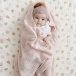Couverture en tricot - Blossom pink