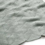 Couverture en tricot Scallop - Dusty green