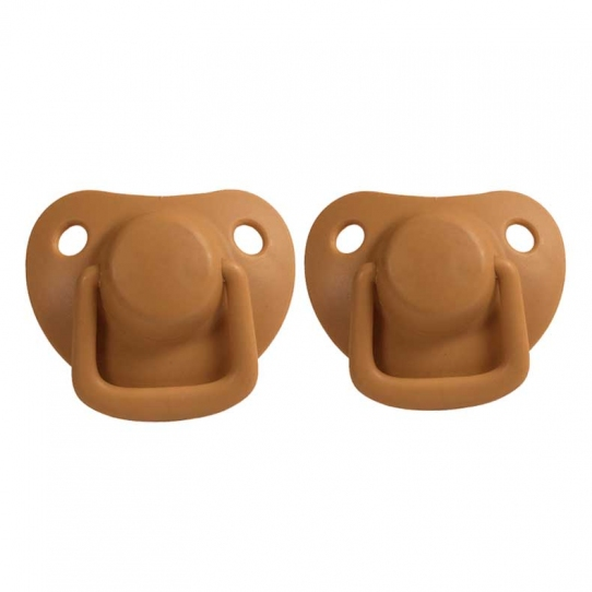 2 Tétines silicone 0/6 mois - Moutarde