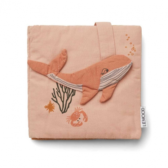 Livre en tissu - Sammy Sea creature rose