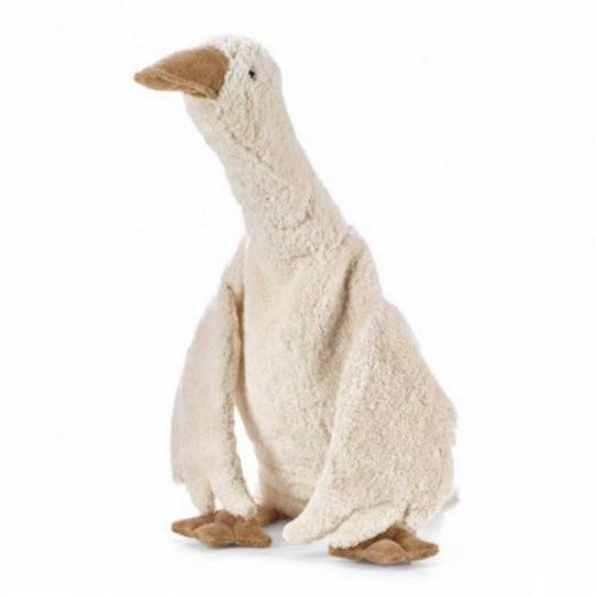 Peluche bouillotte Oie blanche - Large