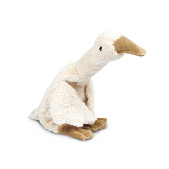 Peluche bouillotte Oie blanche - Small