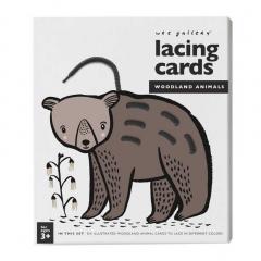 Lacing cards - Woodland