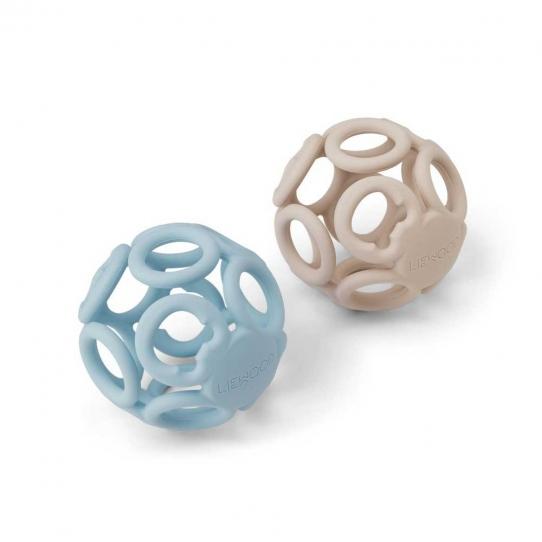 2 Balles de dentition Jasmin - Sandy et sea blue