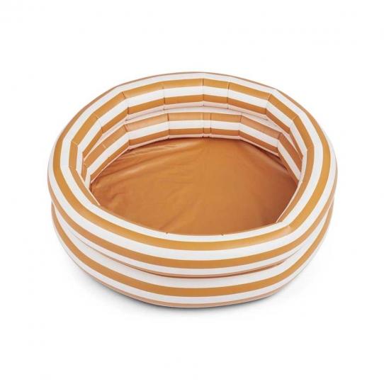 Piscine gonflable - moutarde et crème