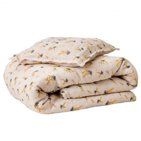 Parure de lit Bébé 70x100 - Mimosa